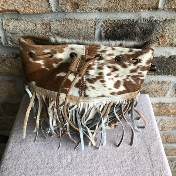 Myra Bag Bags Funky Fringe Hairon Crossbody Bag Nwt Poshmark The rowdy rose, fringe purse, purse, western purse, flap bag, one of a kind purse, rodeo purse, rose purse, tooled purse, croc purse, buckstitch purse, hand tooled purse, biker purse, purse with pearls poshmark